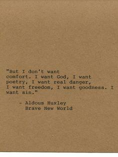 Aldous Huxley Quote Made on Typewriter by FlightOfFancyPrints