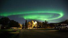En Winnipeg, Canada, las auroras boreales crean un asombrosos espectaculo. Foto: Tara Kenny. Publicado por: @StormHour