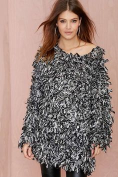 Cameo Continuum Shaggy Wool Sweater | Shop Sale at Nasty Gal