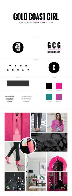 Gold Coast Girl Blog Custom Blog Design by White Oak Creative - logo design, wordpress theme, mood board inspiration, blog design idea, graphic design, branding