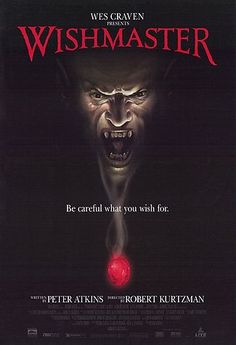 Robert Kurtzman's Wishmaster Is One Extremely Gory And Gruesome Movie. Some Very Big Horror Icons Also Make Appearances In Wishmaster Like Robert Englund, Kane Hodder And Andrew… Horror Movie Posters, Best Movie Posters, Best Horror Movies, Scary Movies, Good Movies, Cinema Posters, Robert Englund, Wes Craven, Best Horrors