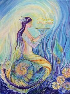 aquarius mermaid   Star Sign Mermaid Aquarius by ShimaArt on deviantART