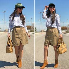 falda safari - Temporada: Primavera-Verano - Tags: look, ootd, fashion, moda, inspo, - Descripción: Look safari con toque urban #FashionOlé