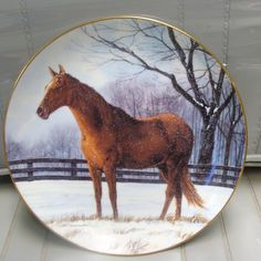 The Danbury Mint Plate   Winter Pasture  1991 by neilsellers, $19.99