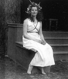 """Katharine Hepburn in """"The Woman in the Moone"""" at Grand May Day in 1928."""