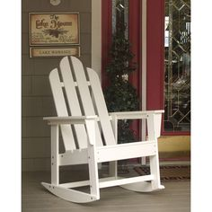 Recycled Plastic Adirondack Rocker | POLYWOOD | Recycled Plastic Chair | Available at Vermont Woods Studios