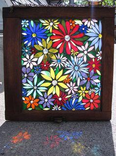 Large flowers mosaic