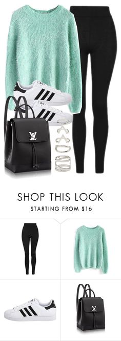 """Style #11569"" by vany-alvarado ❤ liked on Polyvore featuring Topshop, Chicwish, adidas Originals and Forever 21"