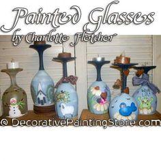 Painted Glasses e-Pattern - Charlotte Fletcher - PDF DOWNLOAD