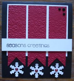 Christmas card from a great 'DIY' kit found at www.wholelottahappy.com.au