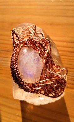 Blue Flash Moonstone violet Pendant   Etsy