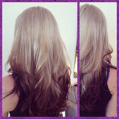 "looks too ""dipped"" Gorgeous Hair Color, Cool Hair Color, Hair Colors, Reverse Ombre Hair, Blond, Colored Hair Tips, Hair Tattoos, Hair Color And Cut, Dye My Hair"