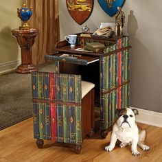 Who knew such cool book furniture existed? Home Office Furniture Uk, Book Furniture, Library Furniture, Home Office Desks, Paint Furniture, Furniture Design, Vintage Travel Decor, Kitchens And Bedrooms, Cool Books