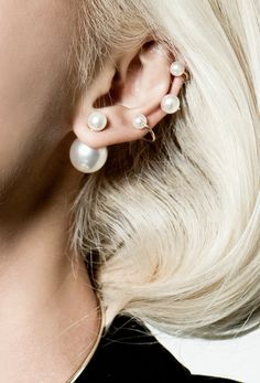 because who doesn't love pearls? #earjacket #trends #fashionjewelry