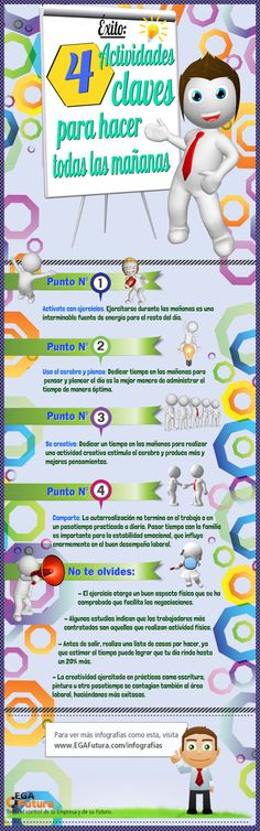 4 claves para el éxito #infografia #infographic