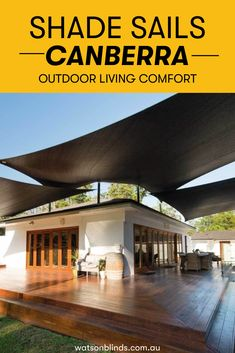 Easily add shade and comfort to your driveways, carports, pool areas, decks, patios, backyards, kids play areas, entertainment areas, common areas in residential and commercial buildings and more. With these Shade Sails installed, you can enjoy shady summers on your patio while entertaining guests and peace of mind while your car parks outside during a hail storm!  #OutdoorLivingTips #ShadeSails #OutdoorWindowTreatment Modern Window Treatments, Sliding Door Window Treatments, Sliding Doors, Kitchen Shades, Kitchen Blinds, Kitchen Window Coverings, Car Parks, Bay Window Curtains, Shade Sails