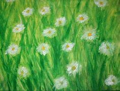 """Acquarello steineriano - Le pratoline: """"Ogni filo d'erba che spunta è una risposta della terra a un raggio di sole..."""" Colori utilizzati: giallo limone b..."""