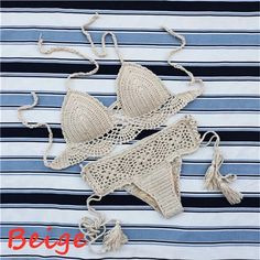 Handmade Crochet Push up Bikini – Benovafashion
