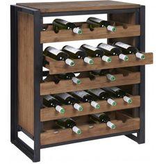 d-Bodhi Fendy Wijndressoir - x x cm - Teakhout Wine Storage Cabinets, Wine Rack Storage, Wine Shelves, Wine Buffet, Wine Table, Red Wine Cheese, Wine Wall Decor, Wine Rack Design, Kitchen Bar Design