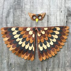 Owl Costume // Wings and Mask: years / years / Teen / Adult sizes- Eco Friendly! Tree + Vine - Wise nocturnal owl watches over the forest at night. Flying silently, owl glides to explore and hun - Owl Costume Diy, Diy Costumes, Halloween Costumes, Owl Wings, Owl Mask, Night Forest, Feather Crafts, Halloween 2019, Crafts For Kids