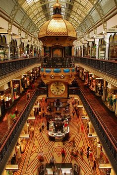 """The Queen Victoria Building, in Sydney, has been Heralded by Pierre Cardin as """"the most beautiful shopping centre in the world"""". #Australia"""