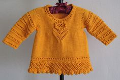 Ravelry: Lacy Sweater pattern by Zoë Mellor, Free Pattern  DK (11 wpi) ?  Gauge  20 stitches and 28 rows = 4 inches  in reverse stocking stitch using 4mm needles  Needle size  US 5 - 3.75 mm  US 6 - 4.0 mm  Yardage  558 - 651 yards (510 - 595 m)  Sizes available  6-12 mths, 1-2 years, 2-3 years, 3-4 years