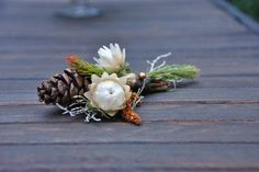 Fall/winter nature themed Boutonnière by Portland Bloem