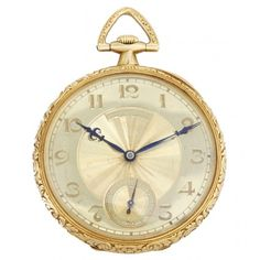 Patek Philippe Solid 18k Yellow Gold Ornately Engraved Rare Pocket Watch - Manual winding