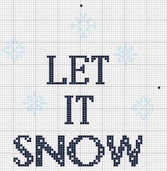 Let It Snow! Free Cross Stitch Pattern