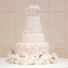Mariages et Turbulettes: Un gateau de mariage #rose