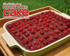 This Chocolate Raspberry Pudding Poke Cake is a quick & easy dessert for your next potluck or pitch-in and it's so simple to make.