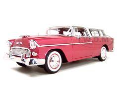 1955 Chevrolet Nomad Diecast Model Rose 1/18 Die Cast Car By Maisto