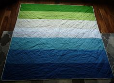 Ombre Lap Quilt by Greenerbeginnings. #modern quilts