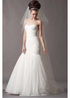 GORGEOUS SATIN TULLE TRUMPET SWEETHEART NECKLINE WEDDING DRESS SEXY LADY LACE FORMAL PROM BRIDESSMAID