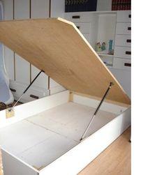 Diy Storage Bed, Storage Room Organization, Bed Frame With Storage, Diy Bed Frame, Diy Storage Platform Bed, Storage Ideas, Diaper Storage, Ottoman Storage, Clothes Storage
