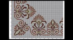 Tek renk Cross Stitch Designs, Cross Stitch Patterns, Chicken Scratch, Blue Tiles, Filet Crochet, Plastic Canvas, Needlepoint, Projects To Try, Embroidery