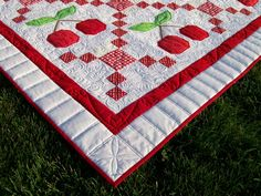 """""""Cherry on Top"""" quilting detail http://podunkpretties.blogspot.com/2013/07/cherry-on-top-friday-finish.html"""