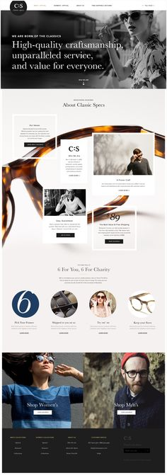 web design | Classic Specs Eyewear by Joshuaell Long