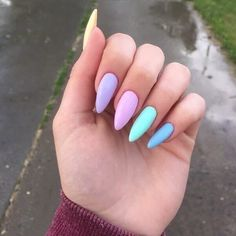 Latest Acrylic Nail Designs For Summer That Will Be So Trendy All Season - Nail Designs Perfect Nails, Gorgeous Nails, Pretty Nails, Best Acrylic Nails, Acrylic Nail Designs, Multicolored Nails, Aycrlic Nails, Glitter Nails, Fire Nails