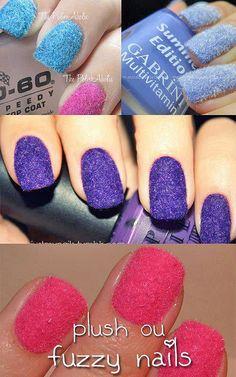 plush fuzzy nails by zomoc.com, via Flickr
