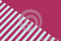 Sheet of pink and white striped paper diagonal on plain red one.
