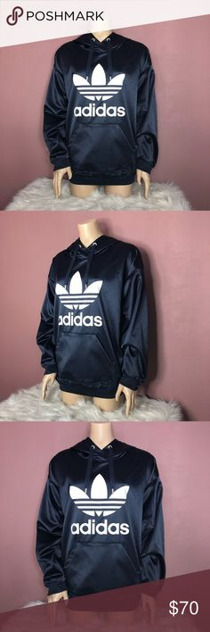 1998eae7e1c ADIDAS Trefoil Hoodie -ADIDAS -Discontinued Rare and Hard to Find -Original  Price   70 -Oversized Fit -No Flaws -I m open to all offers🖤 adidas Tops  ...