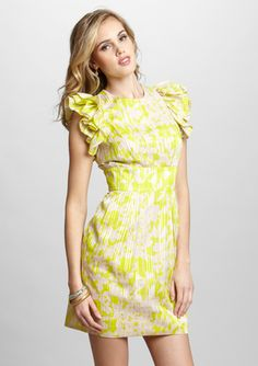 On ideeli: JESSICA SIMPSON Printed Flutter Sleeve Dress