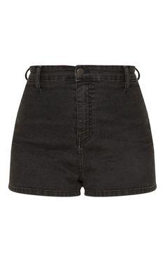 The Washed Black Disco Short . Moda Rock, Short Skirts, Mini Skirts, Skinny Khaki Pants, Cool Outfits, Fashion Outfits, Hot High Heels, Friends Fashion, Denim Fabric