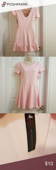 Nwt. Pink mini dresses. Nobo boundaries. Pink dresss. Junior size: 7-9 New with tag.  Thanks for looking remember to be your own kind of beauty. NOBO Dresses Mini