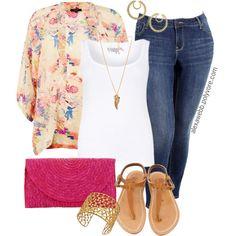 Plus Size - Kimono, created by alexawebb on Polyvore
