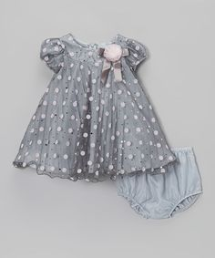 Take a look at this Gray & Pink Dot Swing Dress - Infant & Toddler by Gerson & Gerson on #zulily today!