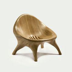 "Julia Krantz, Brazil, 2008  ""Poltrona Maia"" lounge chair in stack-laminated sumauma wood."