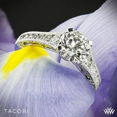 Tacori Reverse Crescent Graduated Diamond Engagement Ring
