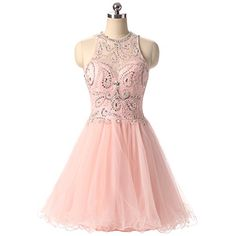 Teen Girls Senior High School Graduation Prom Homecoming Party Mini Dress 6 *** Click image to review more details.